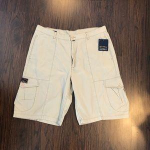 Nautica men's shorts khaki cargo NWT size 42 tan